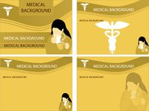 Medical backgrounds Stock Images