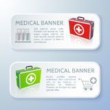 Medical bag banners set Royalty Free Stock Photography