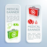 Medical bag banners set Royalty Free Stock Image