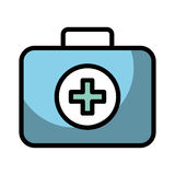 Medical bag cartoon. Shadow blue medical bag cartoon vector graphic design Royalty Free Stock Image