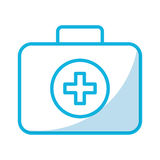 Medical bag cartoon. Shadow blue medical bag cartoon vector graphic design Stock Images