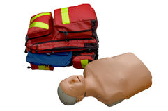 Medical bag and dummy Stock Image