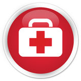 Medical bag icon premium red round button Stock Images