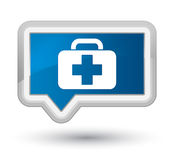 Medical bag icon prime blue banner button Royalty Free Stock Photography