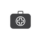 Medical bag icon vector, filled flat sign, solid pictogram isolated on white Stock Photos