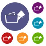 Medical bag icons set Royalty Free Stock Photos