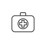 Medical bag line icon, outline vector sign, linear style pictogram isolated on white. Royalty Free Stock Image