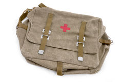 Medical bag of Soviet orderly Royalty Free Stock Images