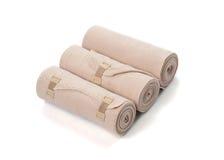 Medical bandage roll isolated on white background Stock Photography