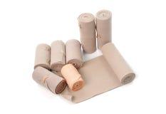 Medical bandage roll isolated on white background Stock Photos