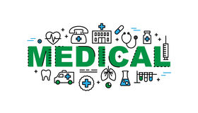 Medical banner. Health and medicine industry Stock Image