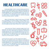 Medical banner for infographics design template Royalty Free Stock Photo