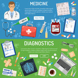 Medical banner and infographics Stock Images