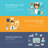 Medical Banner Set Royalty Free Stock Photo