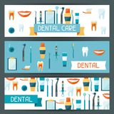 Medical banners design with dental icons Royalty Free Stock Photos