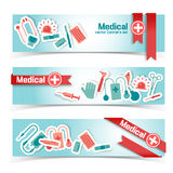 Medical banners set Royalty Free Stock Photography