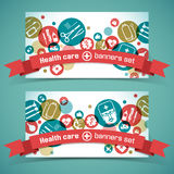 Medical banners set Royalty Free Stock Photos