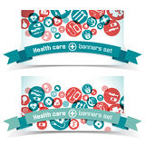 Medical banners set Stock Photo