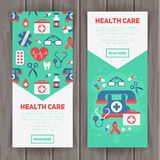 Medical banners templates in trendy flat style Stock Photo