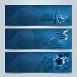 Medical banners or website header set Stock Photos