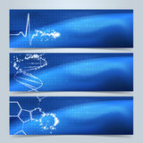 Medical banners or website header set. Royalty Free Stock Photography