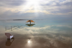Medical beach on the Dead Sea Royalty Free Stock Photography