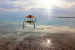 Medical beach on the Dead Sea, Israel. Royalty Free Stock Image