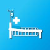 Medical bed. Medical equipment Design Simplicity, illustration icon royalty free illustration