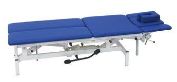 Medical Bed on a white Stock Image