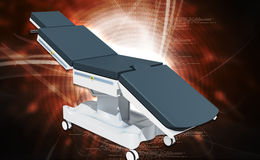Medical Bed. On a white background stock images
