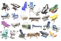 Medical beds and chairs Stock Photos