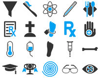 Medical bicolor icons Stock Photography