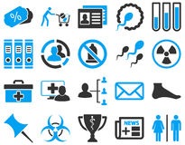 Medical bicolor icons Royalty Free Stock Photo