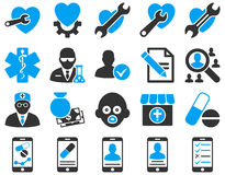 Medical bicolor icons Stock Image