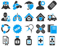 Medical bicolor icons Royalty Free Stock Images