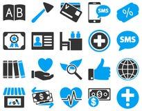 Medical bicolor icons Stock Photos