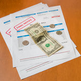 Medical bill from the hospital, concept of rising medical cost. Royalty Free Stock Photos