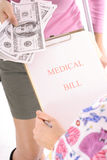 Medical bills Royalty Free Stock Photo