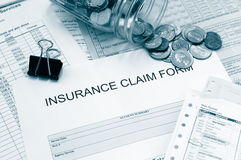 Medical bills Stock Image