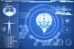 Medical biology interface in blue Stock Images