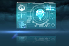 Medical biology interface in blue Royalty Free Stock Photo