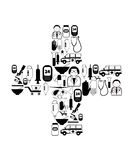 Medical black icons Royalty Free Stock Photography