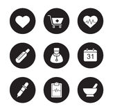 Medical black icons set Stock Images