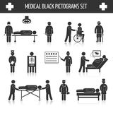 Medical black pictograms set Stock Photography