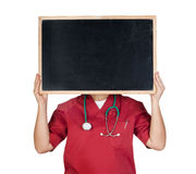 Medical with blackboard Royalty Free Stock Photography