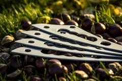 Medical blade for alternative medicine, isolated and close up. stock photography