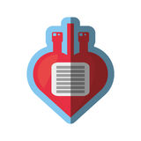 medical blood bag donation shape heart Royalty Free Stock Photos