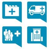 Medical blue icon set Royalty Free Stock Photo
