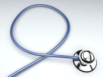 Medical blue stethoscope Royalty Free Stock Photo