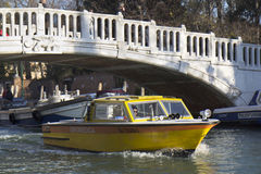 Medical boat in Venice. Stock Image